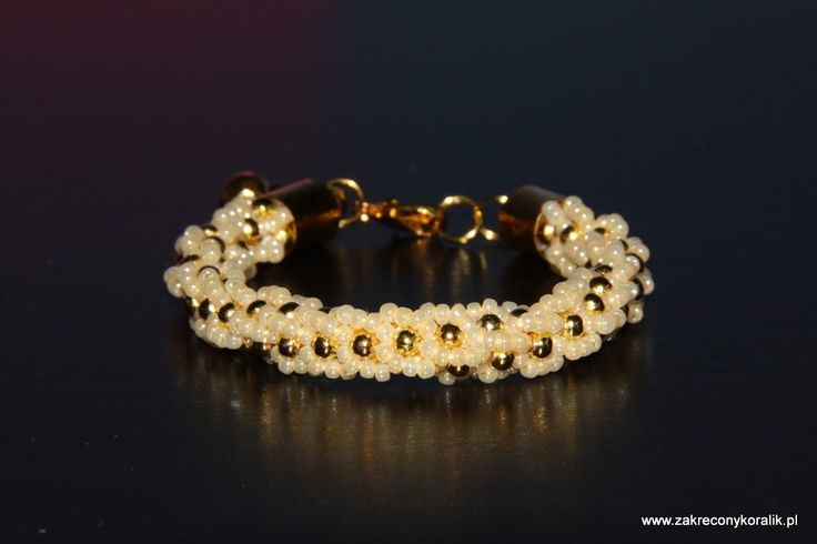 Beżowo – złoty sznur turecki