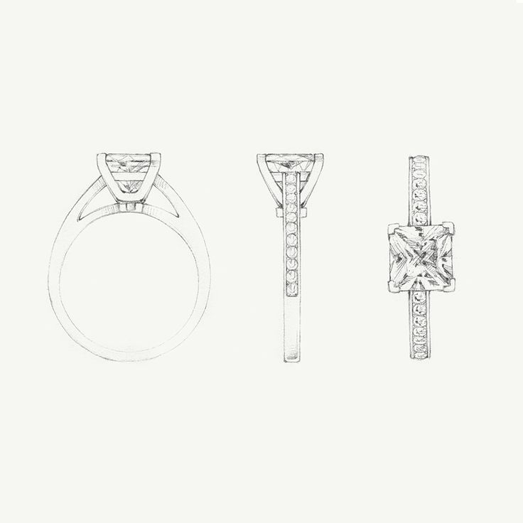 A sketch of the Tiffany Grace diamond engagement ring. #TiffanyPinterest