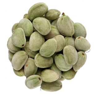 Almond Nut- Part of the rose family, almond nuts are the fruits of the small tree Prunus dulcis, which is related to the peach.