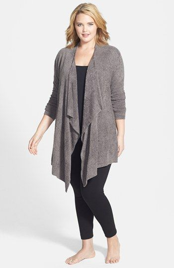 Barefoot Dreams® 'Bamboo Chic' Drape Front Cardigan (Plus Size) available at #Nordstrom