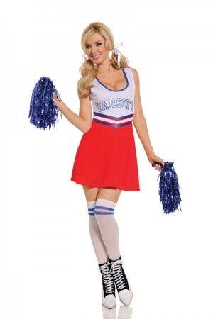 Sexy Team Captain Cheerleader Fancy Dress Costume main image
