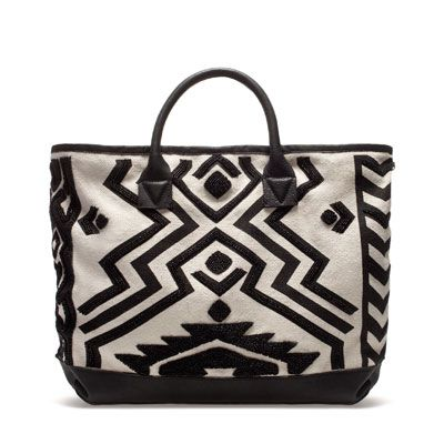 GEOMETRIC PRINT SHOPPER - Handbags - TRF - ZARA United States