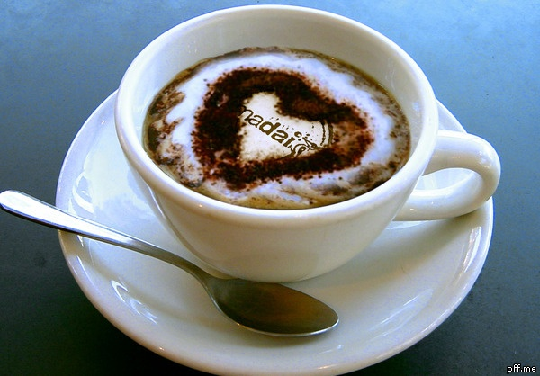 Back from holidays? Back to work?   Start your day on the right foot with a capuccino! Check out what's in the chocolate..