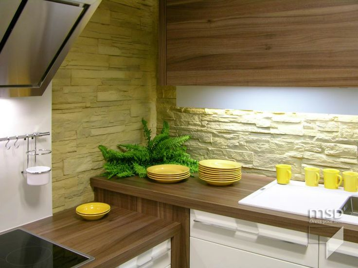 Kitchen stone wall idea | StoneslikeStones