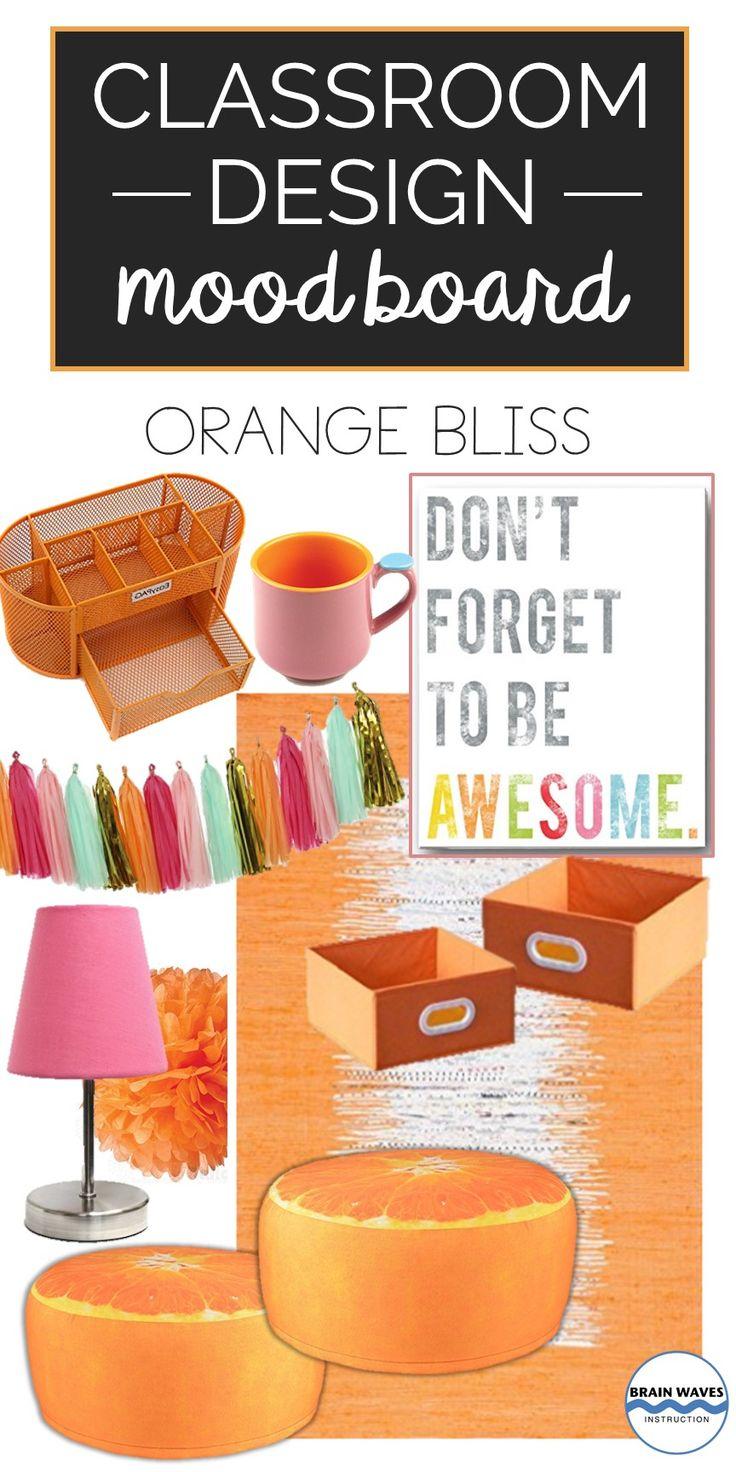 Orange Classroom Decor ~ Best classroom mood boards ideas for design