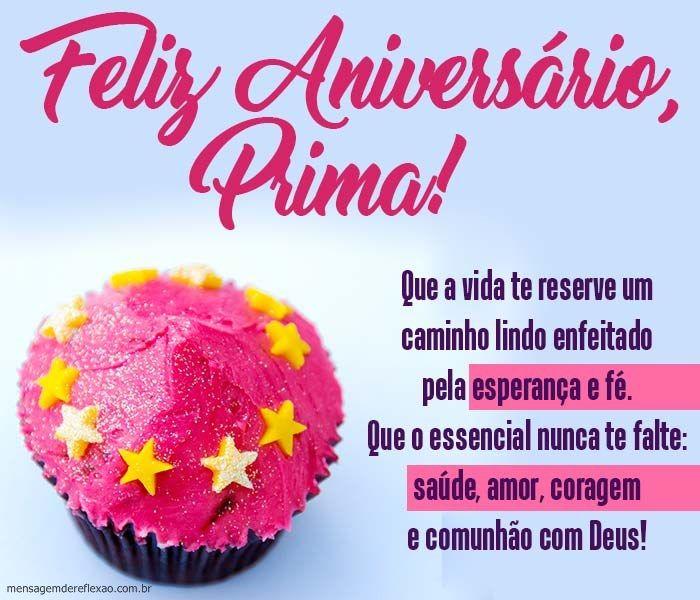 Mensagem De Aniversário Para Prima Aniversario Prima