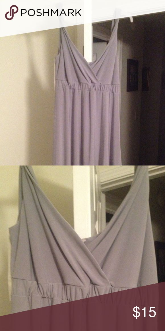 Grey-silver summer dress Gorgeous summer dress. Very comfy and lightweight but looks dressy Dresses Midi