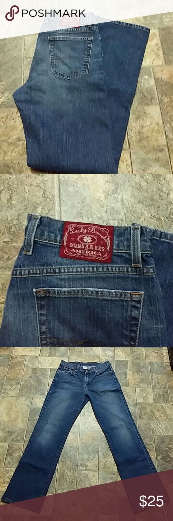 Lucky Brand Dungarees jeans size 12/31 Lucky Brand Dungarees jeans size 12/31, inseam 31 Lucky Brand Jeans Boot Cut