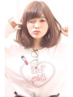 吉澤 侑子 Maria by afloat モーブカラー抜け感スタイル大人かわいいリラックスロブ
