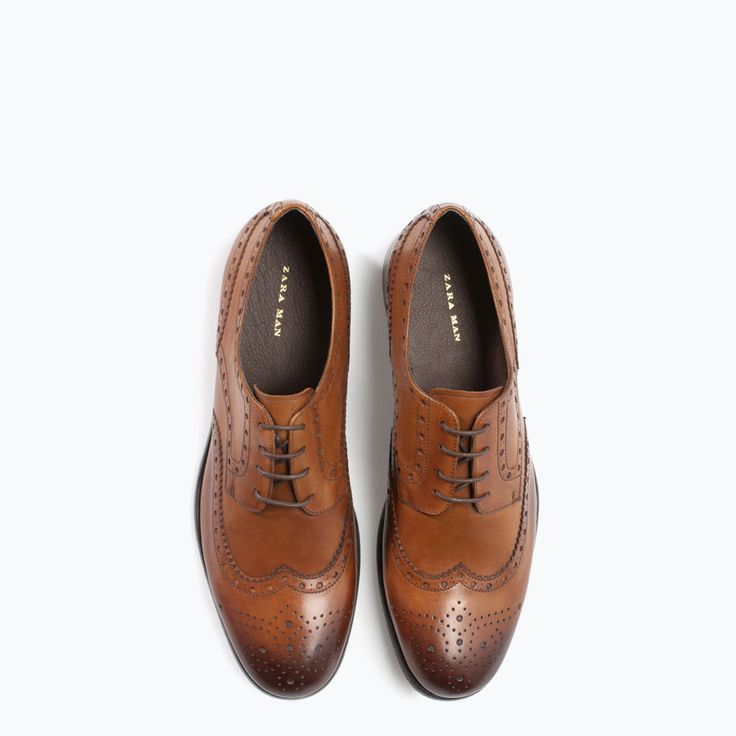 Leather Oxford Blucher Dress Shoe from Zara - Stylez Now