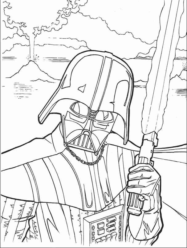 Darth Vader Coloring Page Inspirational Darth Vader ...