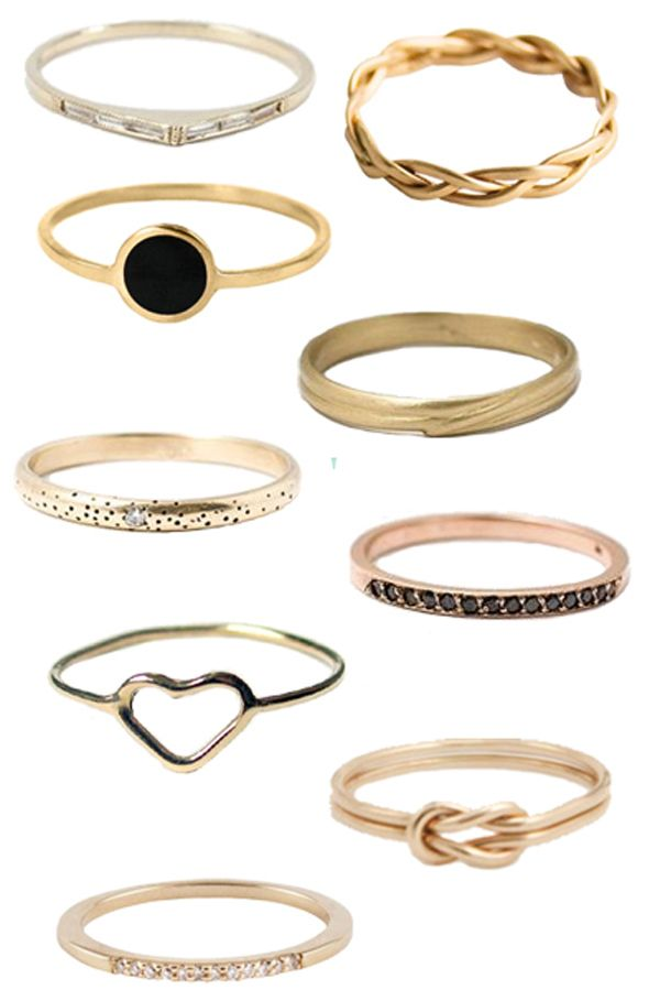 I am a ring fanatic. I've got a few pins posted of my stash of rings, and I'm always buying more....