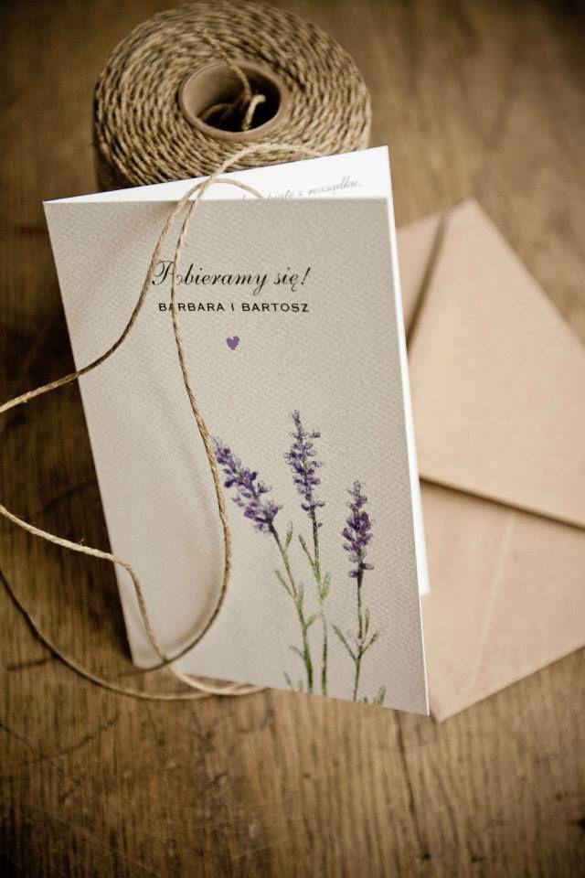 Love Prints Oryginalne zaproszenia ślubne, kartki świąteczne - Lawendowe Pole