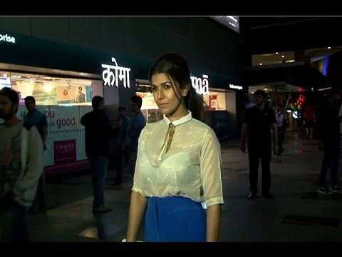 Nimrat kaur in a white transparent see through dress at Fast & Furious 7 screening. See the video at : https://youtu.be/qKYI4jPDkG0 #nimratkaur