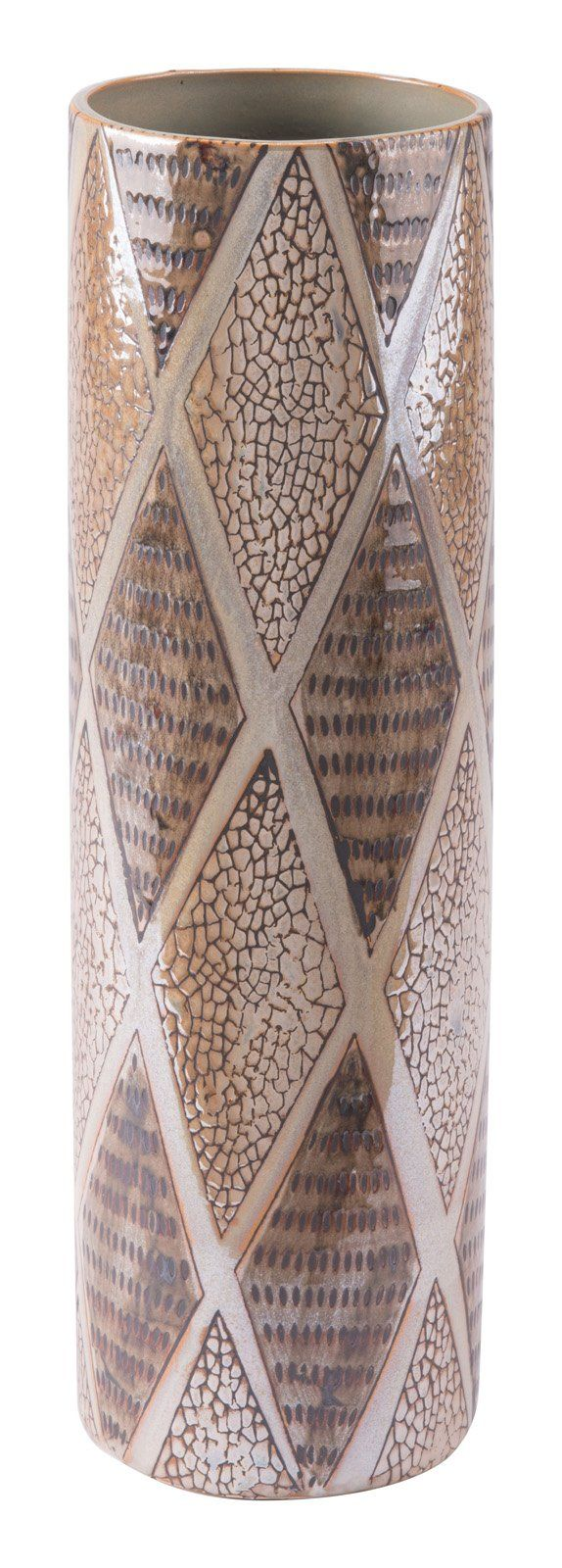 Pearl Tall Cylinder Vase Brown