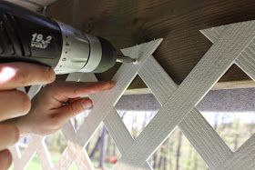 Paint Speckled Pawprints: How to Install a Lattice Deck