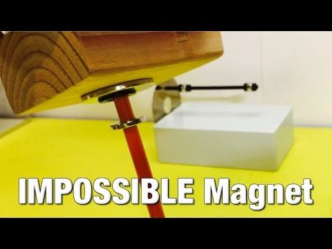 Impossible Magnet?!  Magnets Can't Do That ! ! !Wait what? Magnets don't work this way!  This impossible magnet locks another magnet in space, trapping it from going up or down.  It also repels both the north and south poles of another magnet. While this magnetic configuration may seem impossible its not.  A cool diy magnetic toy but the principle illustrated has many real world applications which will likely been seen in the near future.