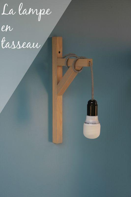 lampe en tasseau DIY