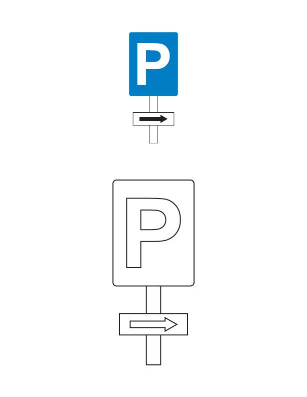 Parking this side traffic sign coloring page