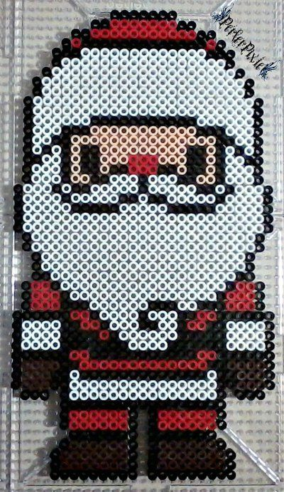 You guys should've known that I was gonna make a Santa perler eventually!
