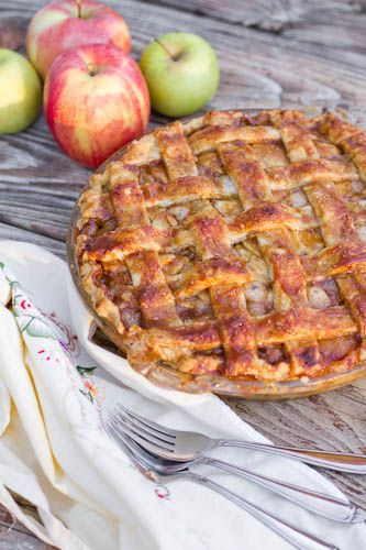 Salted Caramel Apple Pie + Perfect Pie Crust