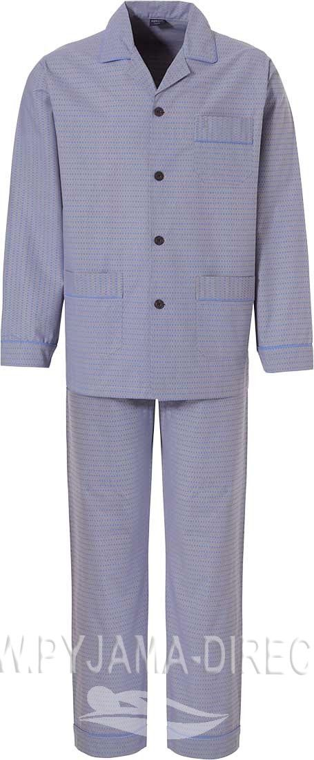 Robson Classic Blocks Long Sleeved Full Button Cotton Flannel