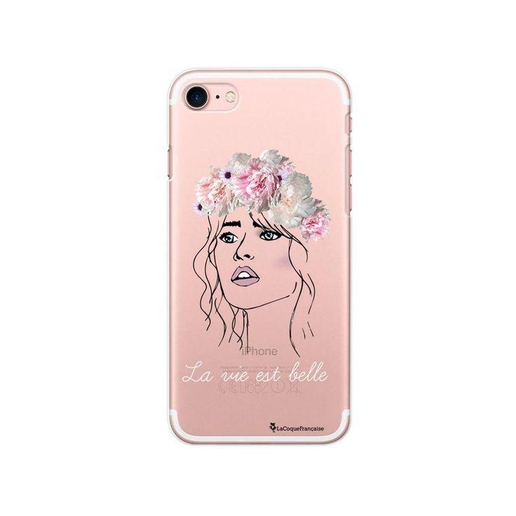 Coque Iphone 7 Iphone 8 Rigide Transparente La Vie Est Belle Ecriture Tendance E…
