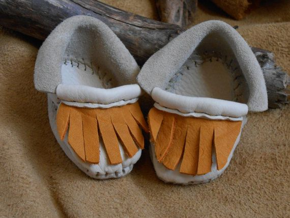 Handmade baby moccasins handsewn native american inspired 0 3 mont