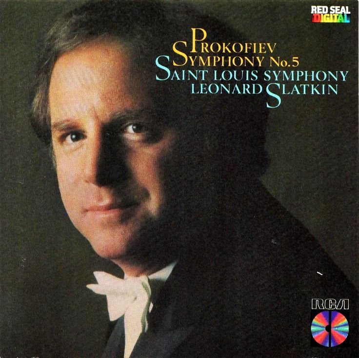 """Sergei Prokofiev - """"Symphony No.5 in B-flat, Op.100"""". Performed by The Saint Louis Symphony and conducted by Leonard Slatkin. Label: RCA, 1984. Disc made in Japan."""