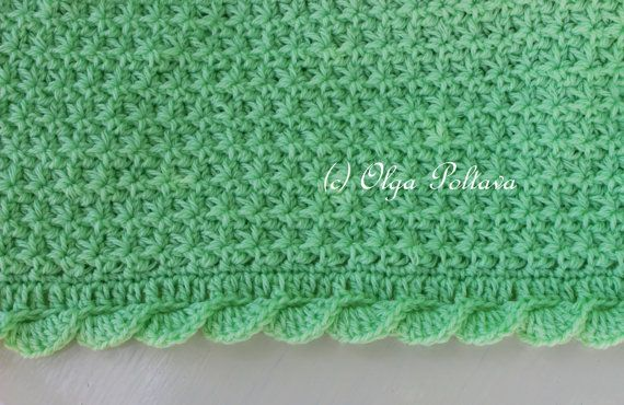 This listing is for two patterns - a baby blanket pattern, and a matching baby hat pattern (size 0-3 months). There are two separate pdf files; make sure you download both. Also each of these patterns are available in my shop for sale separately. The finished size of the blanket is approximately 34 by 29 inches. The finished size of the hat is about 15 inches in circumference and 6 inches in height.  Both items are made from light worsted (category 3) weight 100% acrylic yarn and size G/6…