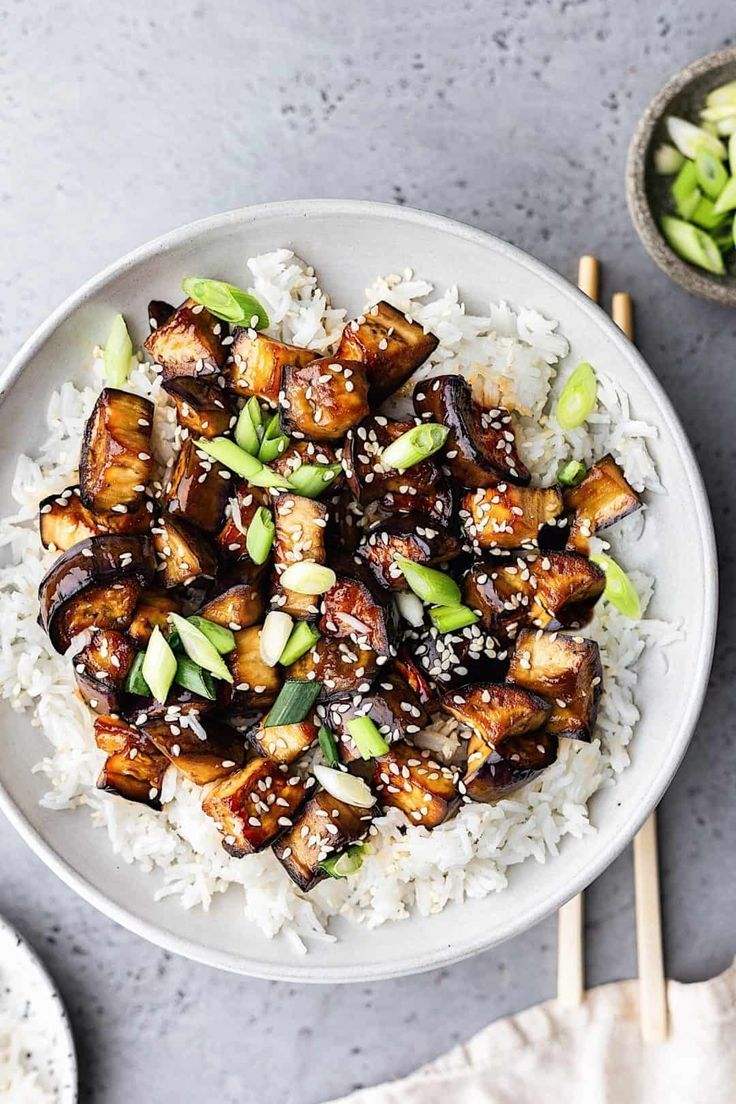 Marinated Teriyaki Eggplant
