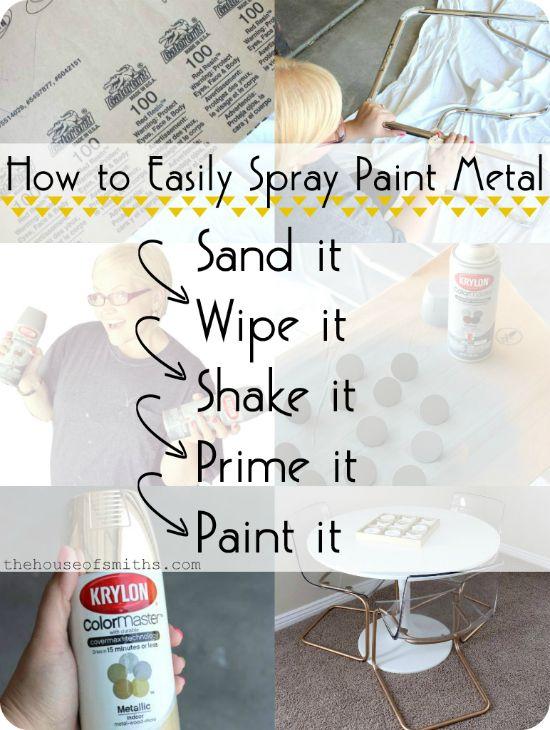 Best 25 Spray Paint Metal Ideas On Pinterest Spray Painting Metal Chrome Spray Paint And