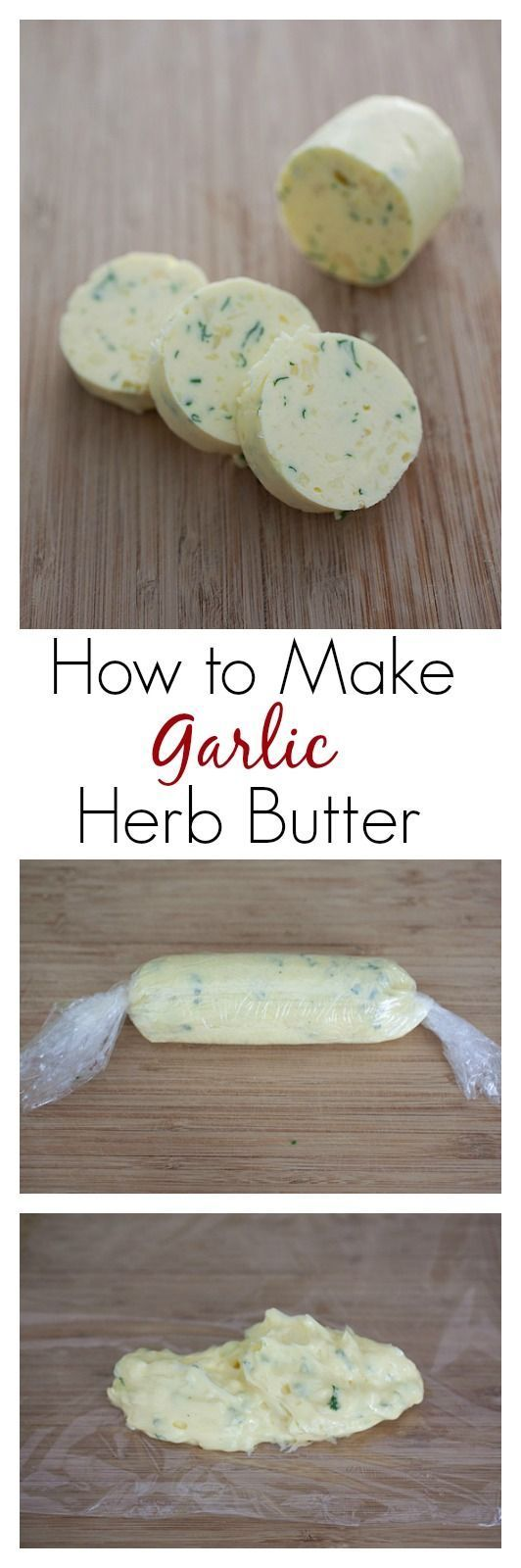 How to make Garlic Herb Butter. Learn the picture step-by-step, so easy to make and you can make so many dishes from it |