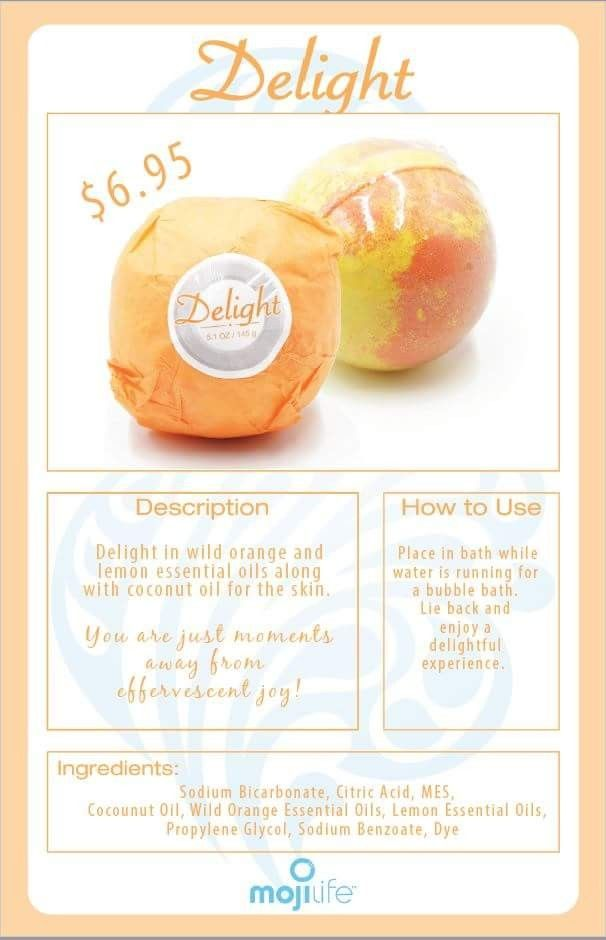 Delight your senses with MojiLife's new bath bombs! Available individually or as a 4-pack, for purchase Black Friday! Made with essential oils to truly nourish your skin
