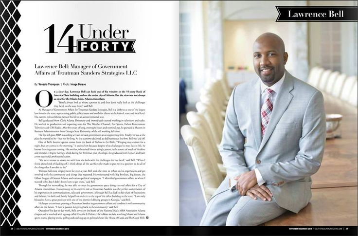 """Lawrence Bell works tirelessly as the Manager of Government Affairs at Troutman Sanders Strategies, LLC. Visit us online to learn why he was chosen as one of the Southern Journal Magazine """"14 Under 40."""""""