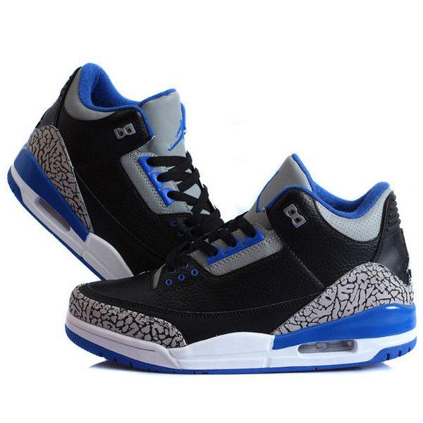 "Air Jordan 3 Retro ""Sport Blue"" Black/Sport Blue-Wolf Grey For"