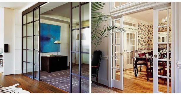 Puertas corredizas para dividir espacios