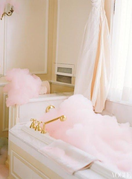 @Jennifer Hayslip Pink Bubbles !!!! {Vogue Magazine, Ritz Hotel Paris} Me? Oh, nothing..just having my bath....