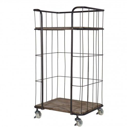 Media.meubelpartner.nl be-pure-trolley-kast-giro-small-kleur-grijs-bepurehome 37,5x47,5x88cm €139