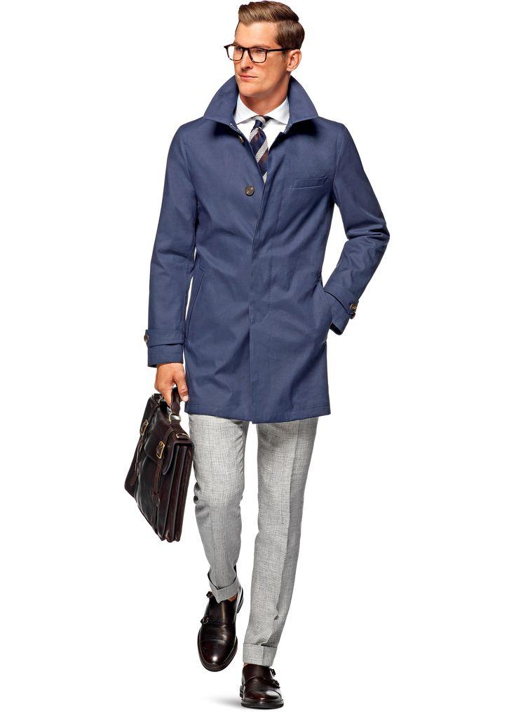 Suitsupply Blue Rivington Raincoat J316i 469 00 Men S