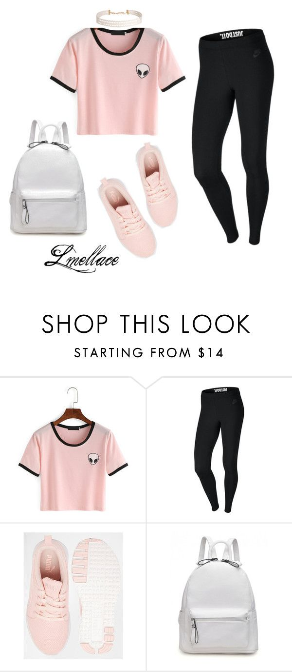 """School days!"" by lmellace ❤ liked on Polyvore featuring NIKE, Puma and Humble Chic"