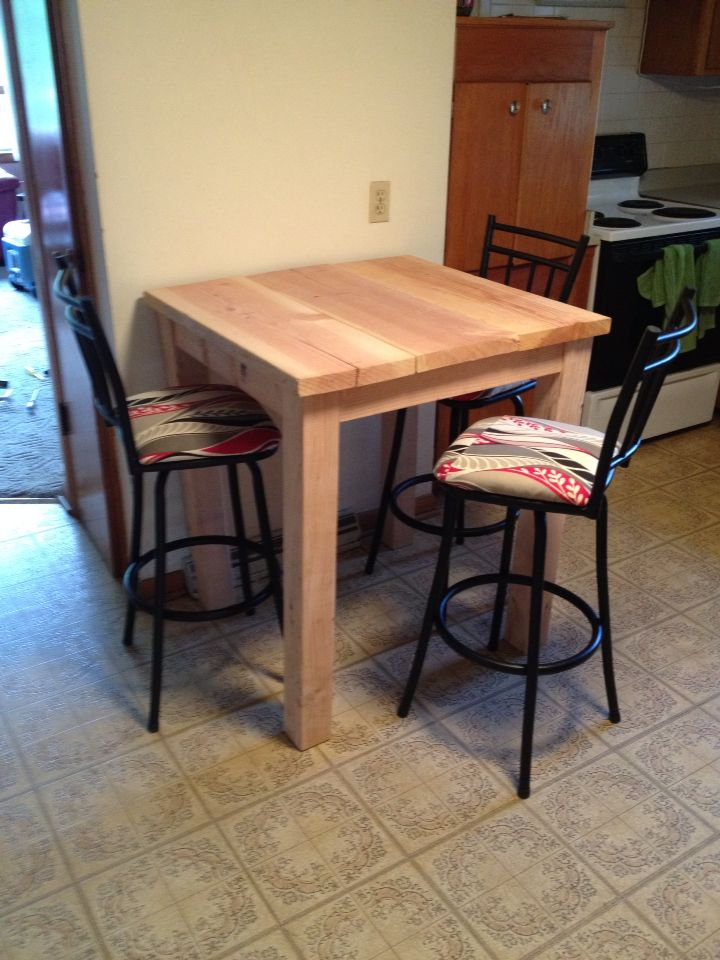 Custom Bar Height Table Simple Build Made For Under 40