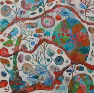 Rosetta Santucci, beautiful melbourne artist, love her stuff - The trees are quiet