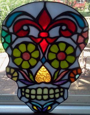 Fleur de Lis Sugar Skull