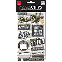 Me & My Big Ideas Chipboard Value Pack-Chalk-Makes Me Smile