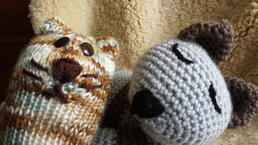 Knitting and crochet toys