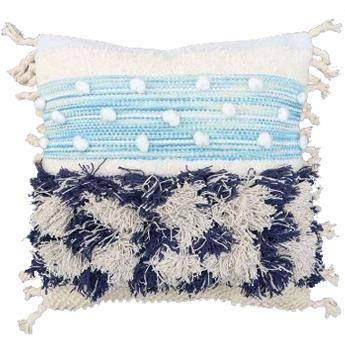 Blue Shaggy Cushion Cover  55 x 55cm