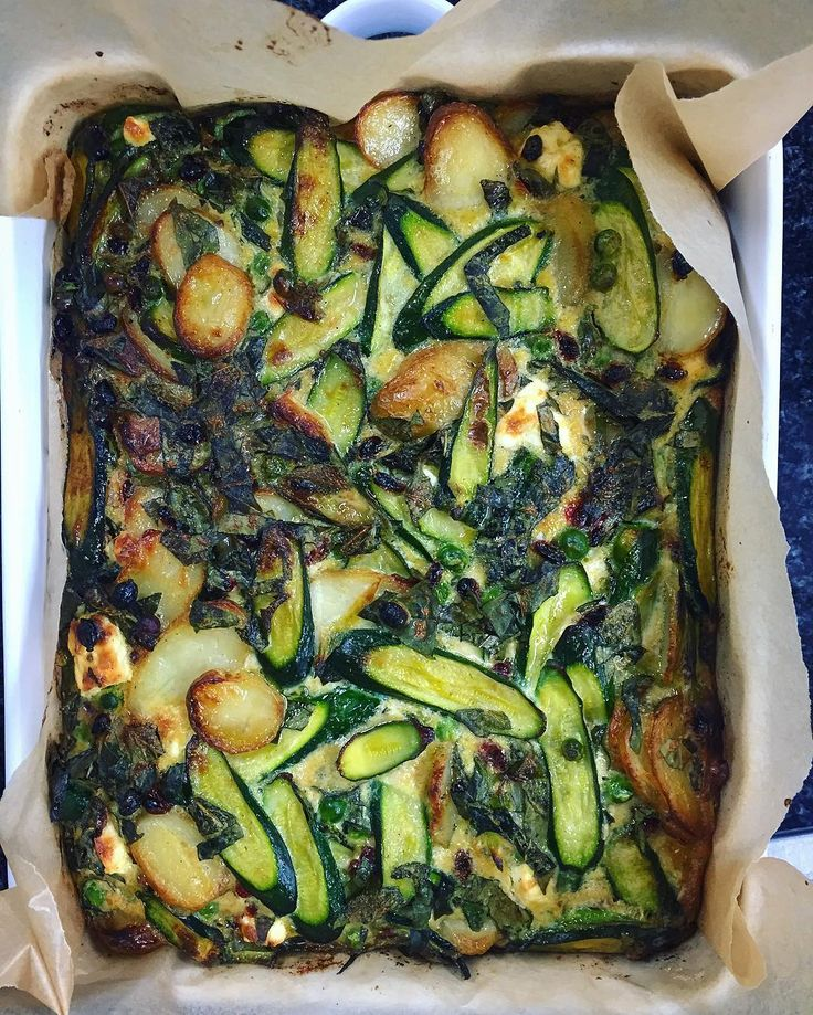 Earlier, made this courgette and basil frittata. #testkitchen BTW, there's barberries there too..