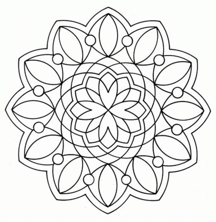 geometric shape coloring pages - Coloring Pages Designs Shapes