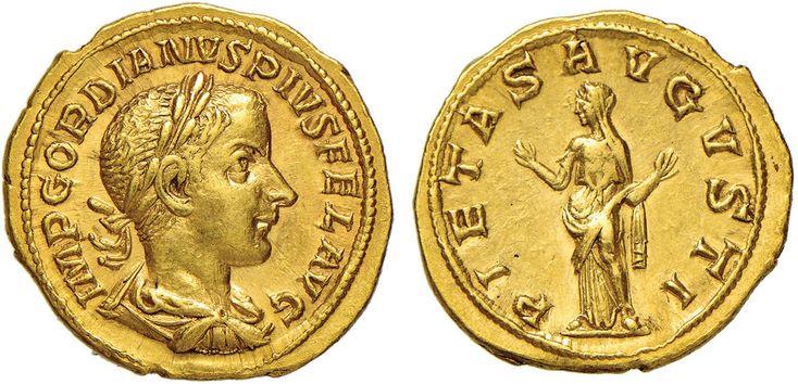 NumisBids: Nomisma Spa Auction 50, Lot 32 : ROMA IMPERO Gordiano III (238-244) Aureo - Busto laureato a d. – R/...